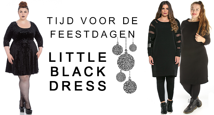 Grote maten feestkleding: Little Black Dress met een twist