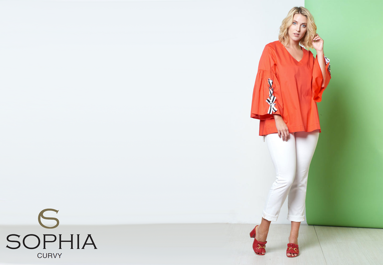 Grote maten shirt Sophia Curvy