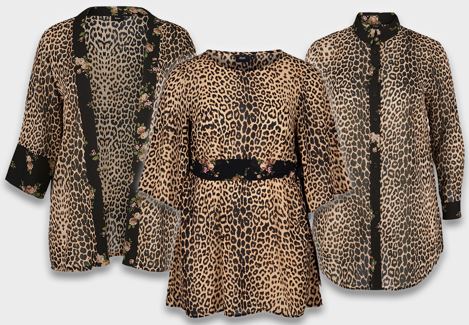 Plus size fashion leopard prints