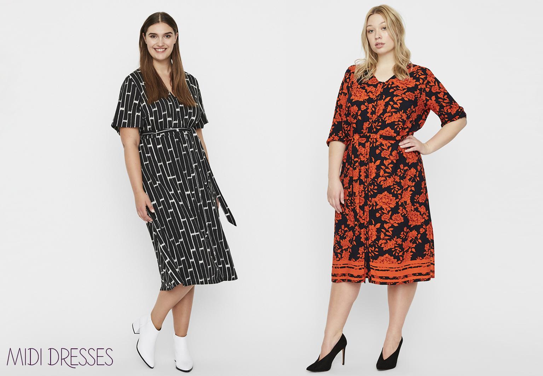 grote maten midi dresses collectie 2019